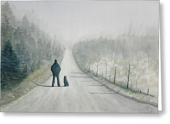 Long Road Home Greeting Card by Ally Benbrook