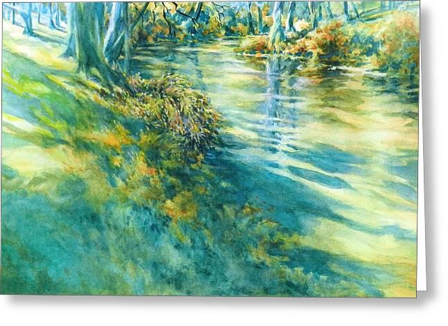 Long Shadows Cypress Creek No 2 Greeting Card by Virgil Carter