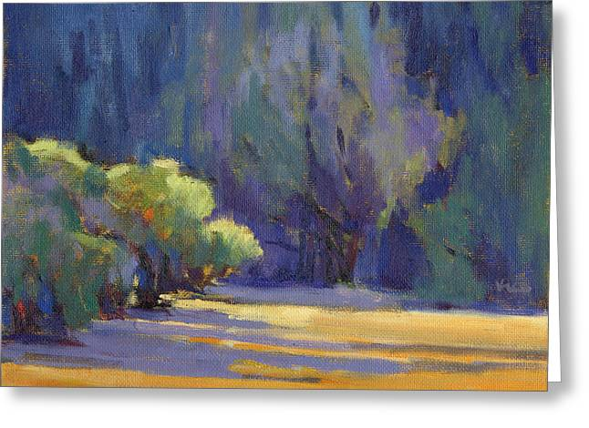 Greeting Card featuring the painting Long Shadows by Konnie Kim