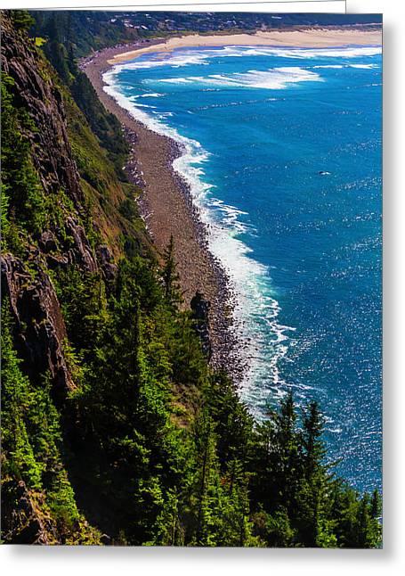 Long Strech Of Oregon Coast Greeting Card