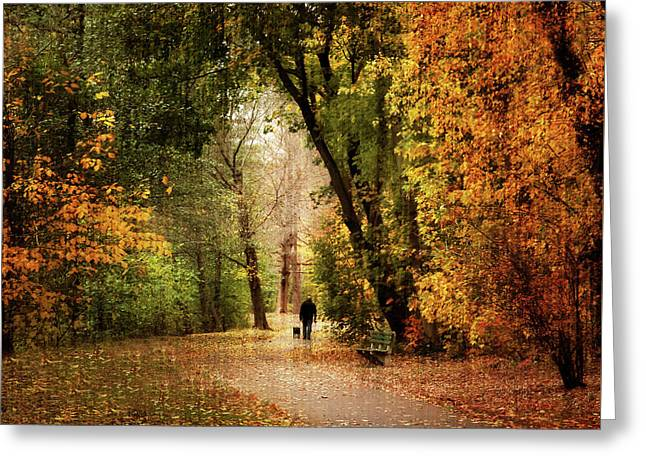 Long Walk Home Greeting Card by Jessica Jenney