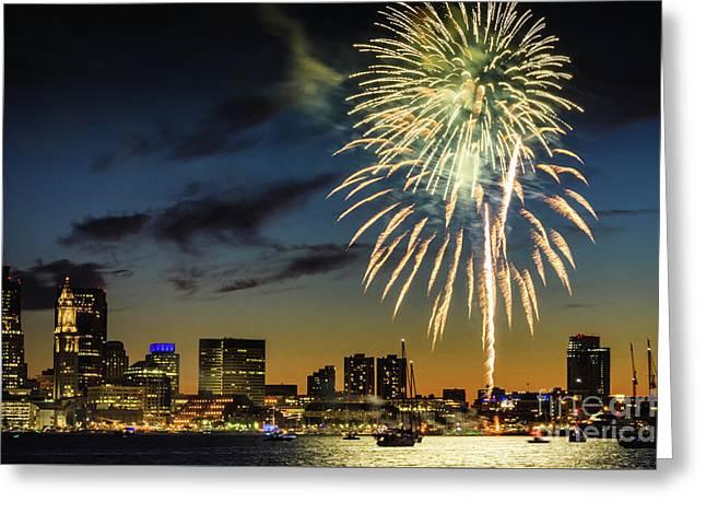 Long Warf Fireworks 1 Greeting Card