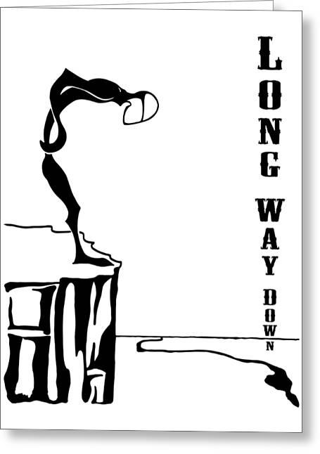 Long Way Down Greeting Card