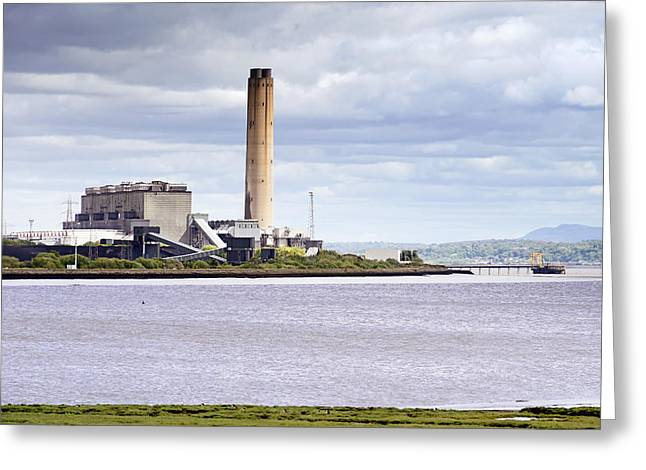 Greeting Card featuring the photograph Longannet Power Station by Jeremy Lavender Photography