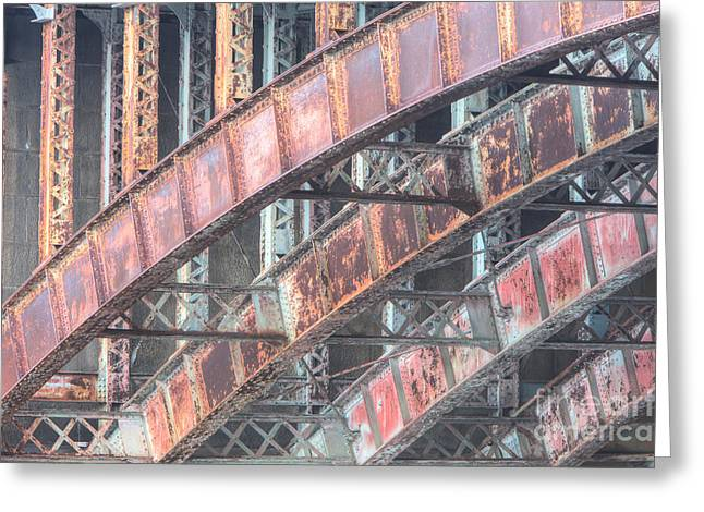 Longfellow Bridge Arches I Greeting Card by Clarence Holmes