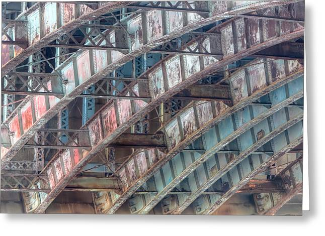 Longfellow Bridge Arches II Greeting Card by Clarence Holmes