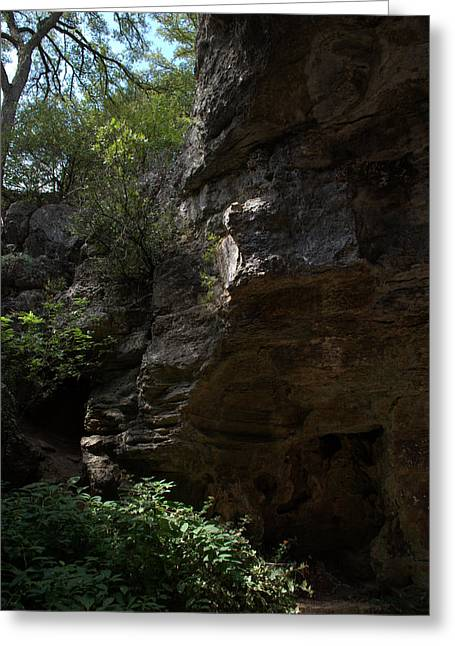 Greeting Card featuring the photograph Longhorn Caverns Entrance by Karen Musick