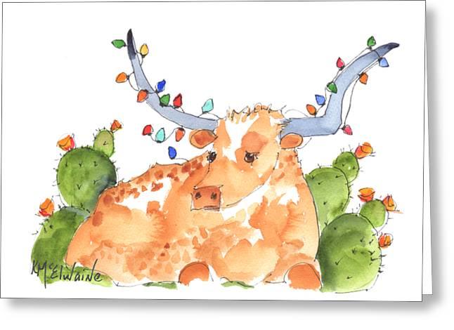 Longhorn Christmas Greeting Card