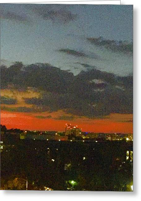 Longhorn Dusk Greeting Card