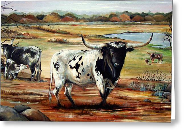 Longhorn Land Greeting Card