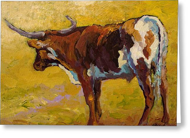 Longhorn Study Greeting Card by Marion Rose