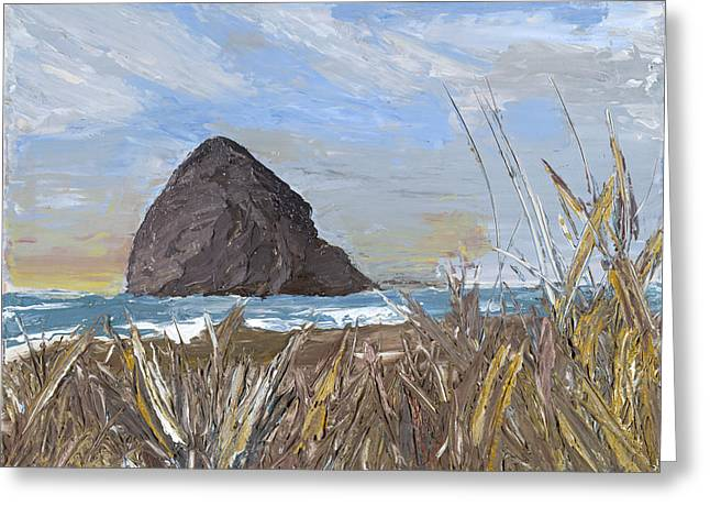Longing For The Sounds Of Haystack Rock Greeting Card