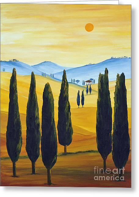 Longing For Tuscany Greeting Card by Christine Huwer