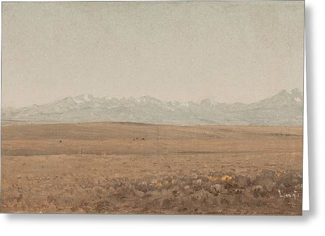 Longs Peak Colorado Greeting Card by Sanford Robinson Gifford