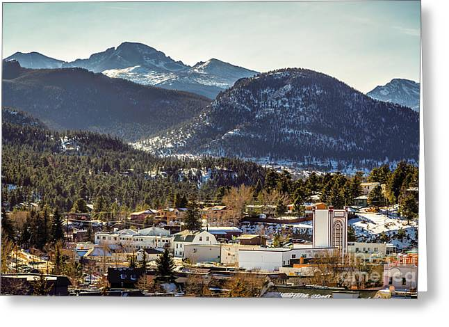 Longs Peak From Estes Park Greeting Card by Jon Burch Photography