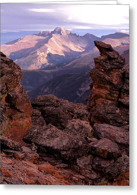 Longs Peak From Rock Cut  Greeting Card