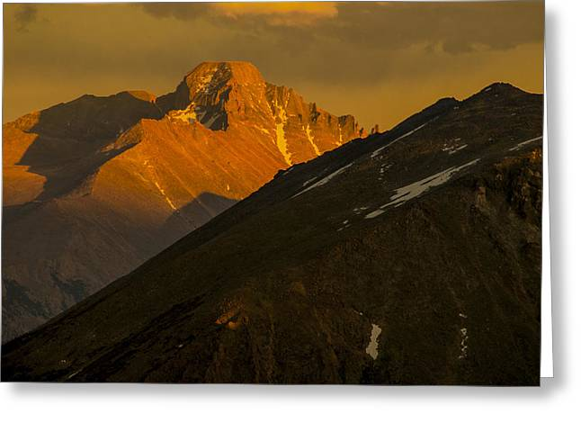 Greeting Card featuring the photograph Long's Peak by Gary Lengyel