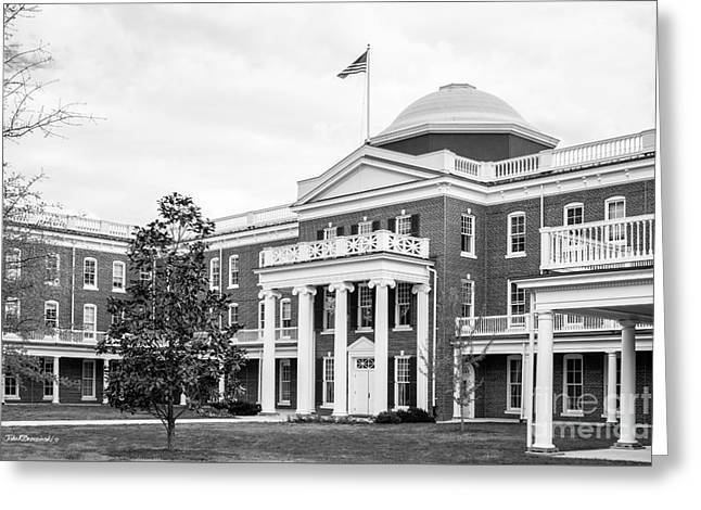 Longwood University Ruffner Hall Greeting Card by University Icons