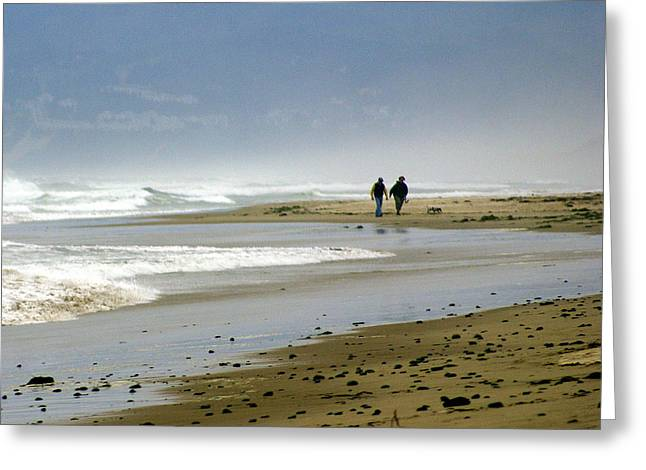 Lonly Beach Greeting Card by Marty Koch