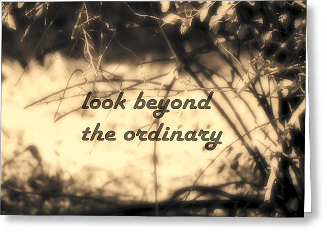 Greeting Card featuring the photograph Look Beyond by Ann Powell