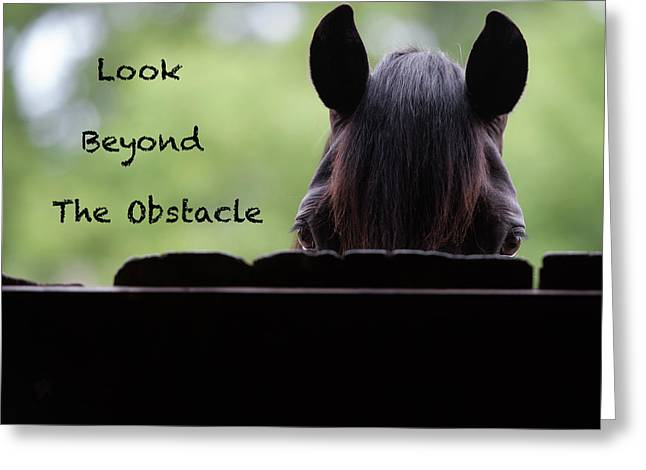 Look Beyond The Obstacle Greeting Card