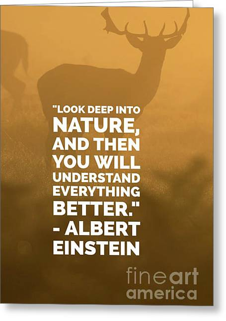 Look Deep Into Nature Phone Case Greeting Card by Edward Fielding