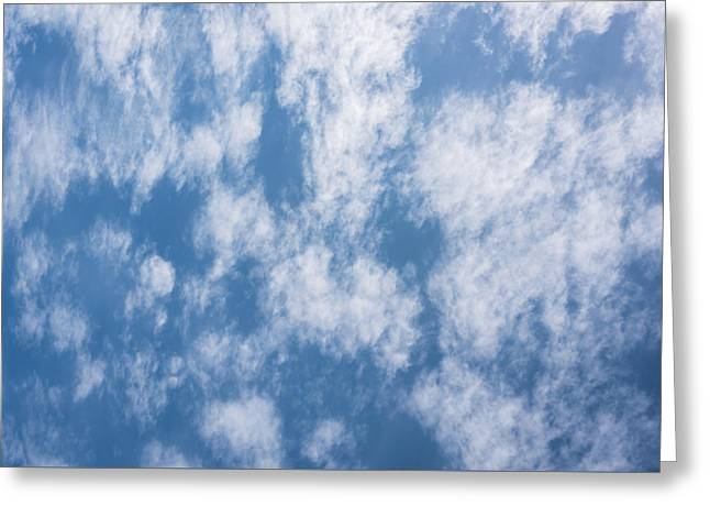 Look Up Not Down Clouds Greeting Card by Terry DeLuco