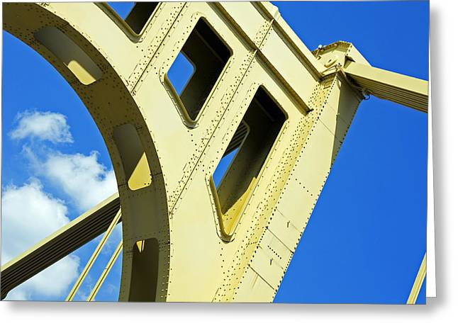 Look Up Pittsburgh Pa Greeting Card by Kristen Vota