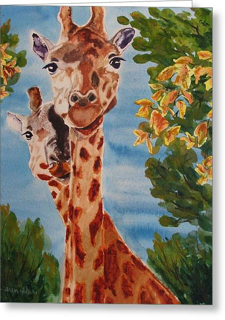 Greeting Card featuring the painting Lookin Back by Karen Ilari