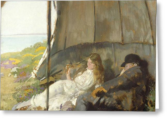 Looking At The Sea Greeting Card by William Orpen