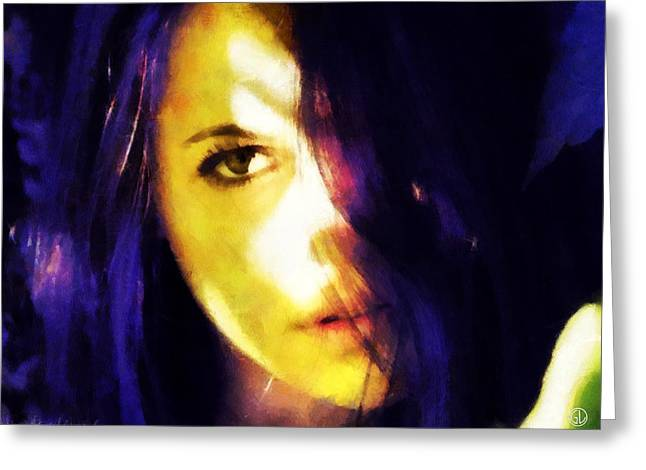 Greeting Card featuring the digital art Looking At The World With One Eye Is Enough by Gun Legler