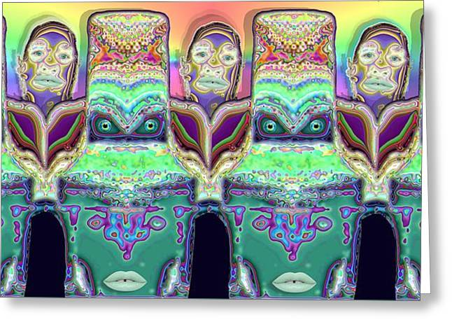 Greeting Card featuring the digital art Looking At You by Ron Bissett