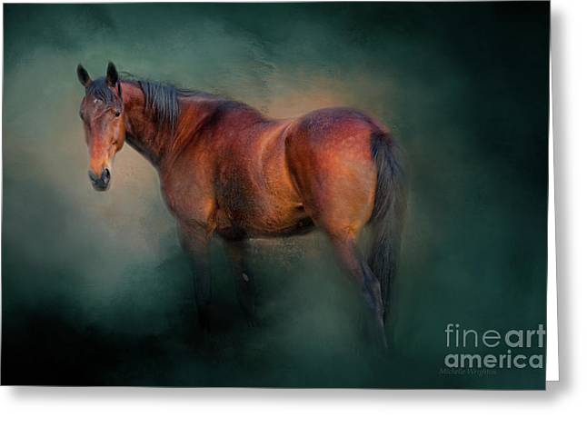 Looking Back Greeting Card by Michelle Wrighton