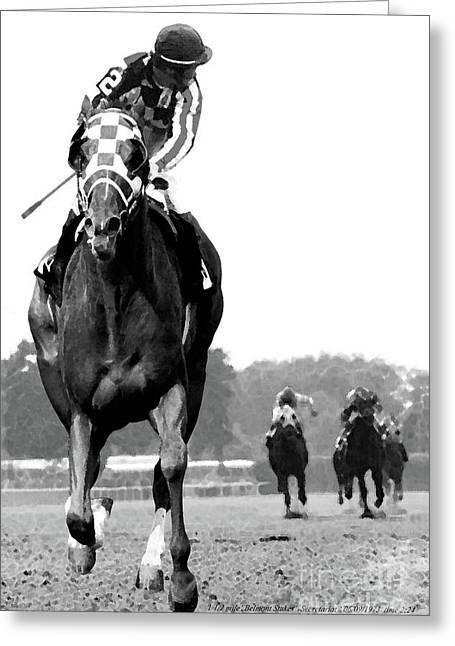Looking Back, 1973 Secretariat, Stretch Run, Belmont Stakes Greeting Card