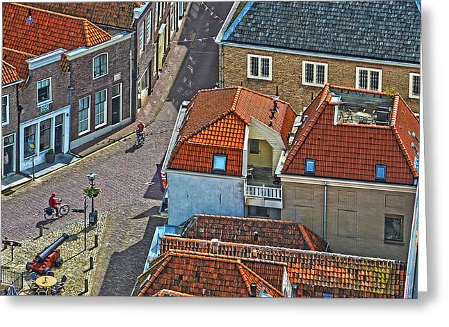 Looking Down From The Church Tower In Brielle Greeting Card