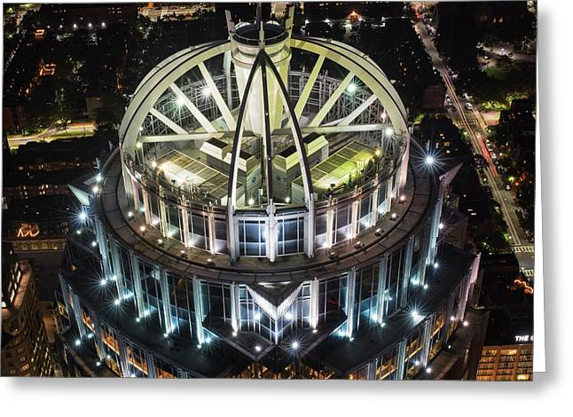 Looking Down On The Huntington Street Building Boston Ma Greeting Card by Toby McGuire