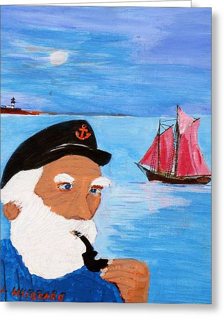 Looking For His Ship To Come In Greeting Card