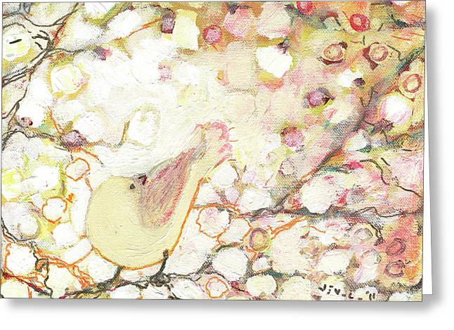Pink Blossoms Greeting Cards - Looking for Love Greeting Card by Jennifer Lommers