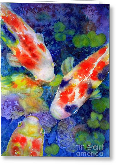 Looking For Lunch Greeting Card by Ann  Nicholson