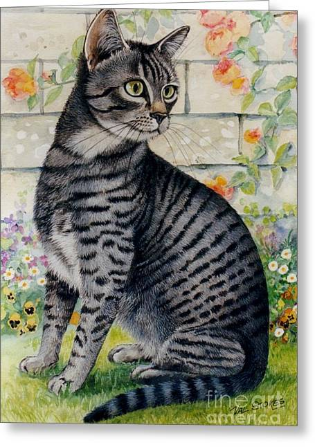 Looking For Mum Greeting Card by Val Stokes