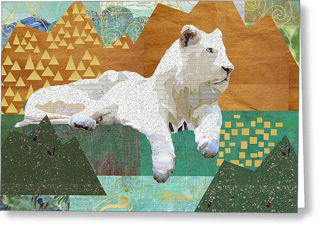 Looking Forward - Snow Lion Greeting Card