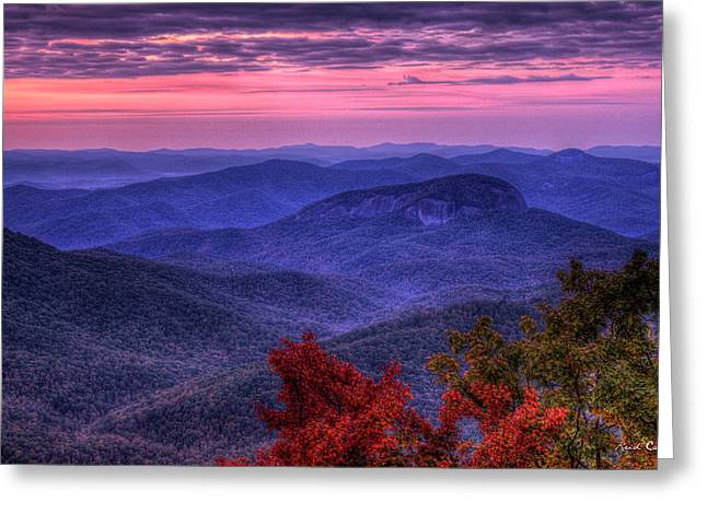 Looking Glass Rock Cloudy Day Sunrise Art Greeting Card
