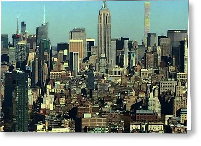 Looking Homeward From #1wtc Greeting Card by Gina Callaghan