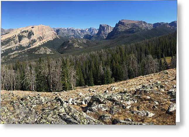 Looking Into The Bridger Wild Lands Greeting Card