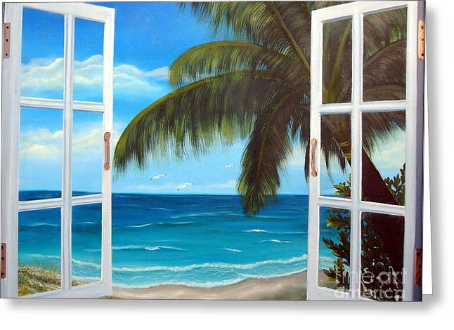 Looking Out Greeting Card by Darlene Green