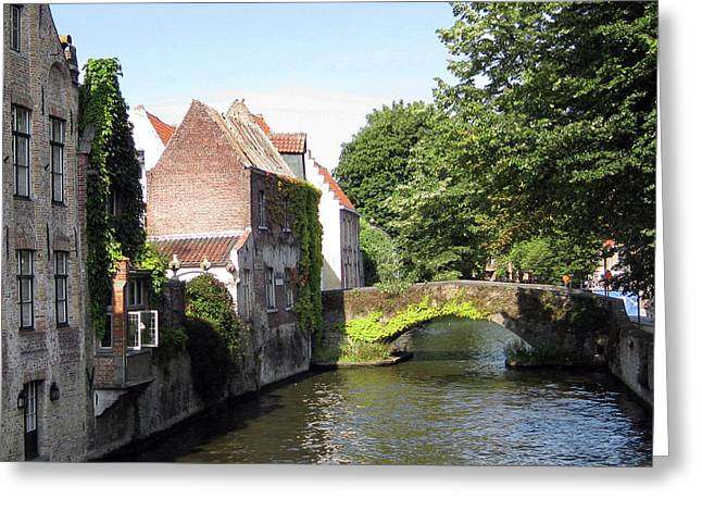 Looking Out On The Canal Greeting Card by David L Griffin