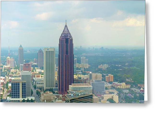 Greeting Card featuring the photograph Looking Out Over Atlanta by Mike McGlothlen
