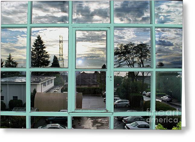 Greeting Card featuring the photograph Looking Out The Window by Bill Thomson