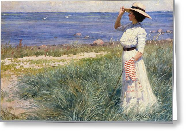 Looking Out To Sea Greeting Card by Paul Fischer