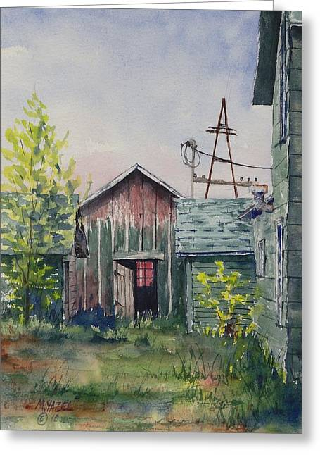 Indiana Springs Paintings Greeting Cards - Looking Through Greeting Card by Mike Yazel
